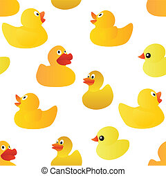 ducks seamless pattern