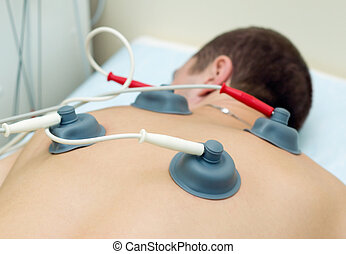 Electrotherapy by equipment of combination therapy...