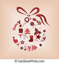 Christmas ball - Abstract background with christmas ball...