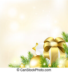 Christmas Or New Year Gold Background