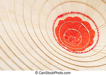 Inside of Asian conical hat - Texture of inside of an asian...