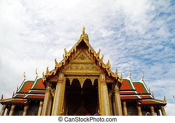 Detail of Grand Palace in Bangkok, Thailand