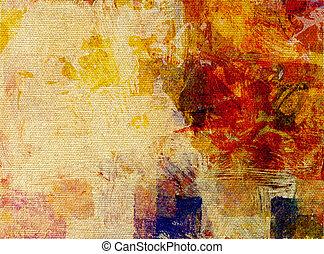 pintura, lona,  glazes, Estrutura