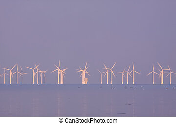 Power meeting in the morning - A seabased windpower station...