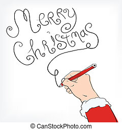 congratulation from Santa Claus - Christmas postal with...