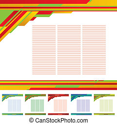 abstract template background - vector color abstract...