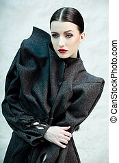 Fashionable beauty - Fashion portrait of beautiful female...