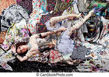 tecidos, coloridos