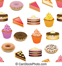 cakes seamless pattern