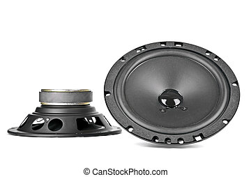 two car speakers - two speakers designed and adapted for...