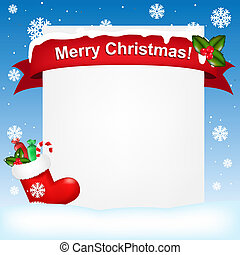 Merry Christmas And New Year Background, Vector Illustration...