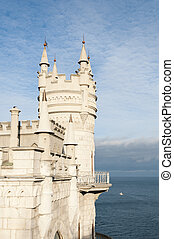 Swallows Nest, Crimea, Ukraine - Swallows Nest Castle tower,...