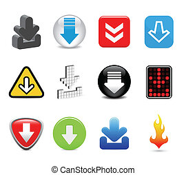 download icons - twelve download icons