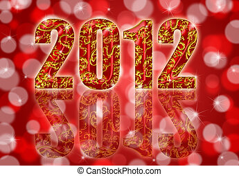 2012 Chinese Year of the Dragon Red Background