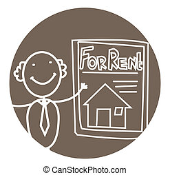 man rent house vector