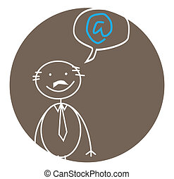 businessman internet bubble