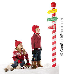Which Way Now? - A young brother and sister have walked with...