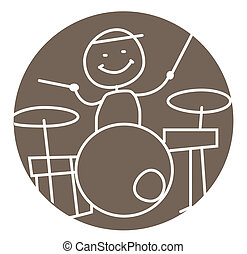 drummer isolated vector