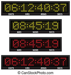 countdown timer all numbers available