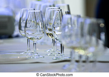 Glasses called catavinos & txakoli - Several Spanish glasses...