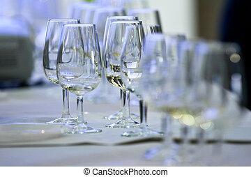 Glasses called catavinos & txakoli - Several Spanish glasses...