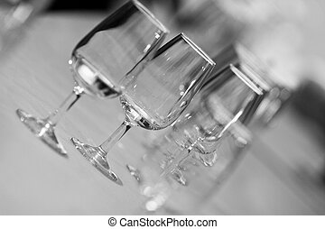 Glasses of catavino for txakoli - Several Spanish glasses...