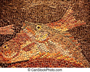 Mosaic Tile Fish - Fish portrayed in a wall tile mosaic