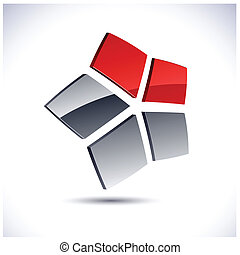 Abstract 3d star icon. - Abstract modern 3d star logo....