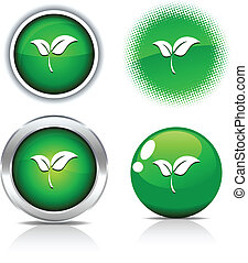 Ecology buttons. - Ecology beautiful buttons. Vector...