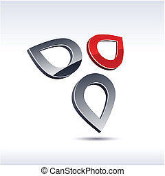 Abstract 3d icon.