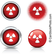 Radiation buttons.
