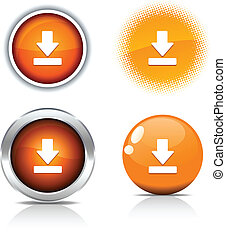 Download buttons. - . Download beautiful buttons. Vector...