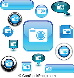 Photo  signs. - Photo vector glossy icons. .