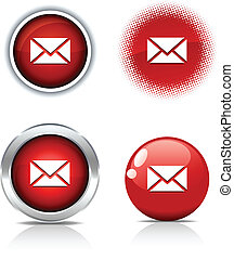 mail buttons. - . mail beautiful buttons. Vector...
