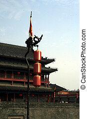 downtown of Xian, Lanterns at the southern gate bu
