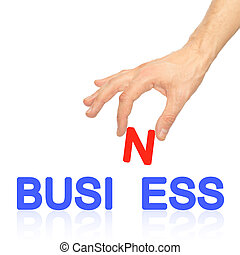 Hand and word Business