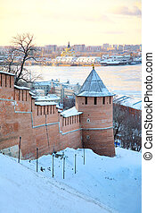 November view of Strelka Nizhny Novgorod Russia