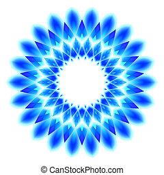 Abstrakcyjny, Błękitny, geometryczny, próbka