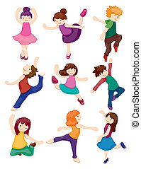 cartoon dancer set