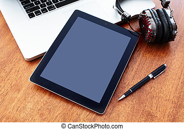 Tablet computer. - New modern tablet computer with laptop....
