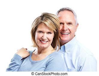 Senior couple in love. - Happy senior couple in love....