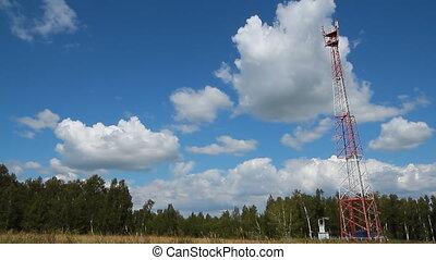 Communications tower 002 - High transmitter tower against...