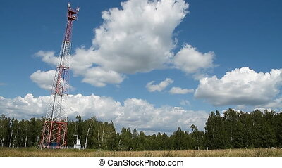 Communications tower 003 - High transmitter tower against...