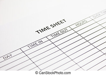 Time Sheet ready to be filled in
