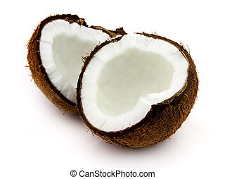 Cut coconut