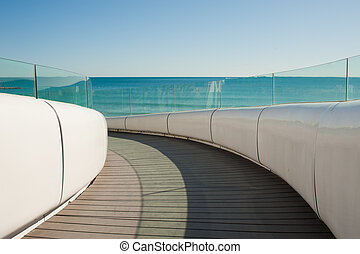 Scenic footbridge - Architectural detail of a modern...