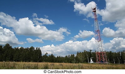 Communications tower 012 - High transmitter tower against...