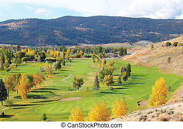 Golf Course - View of a golf course in autumn
