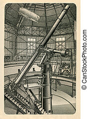 Large refractor of Pulkovo Observatory near St Petersburg...