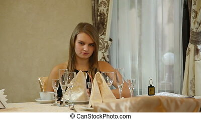 girl at  restaurant